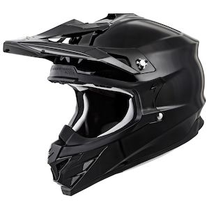 Dirt Bike Helmet With Visor >> Scorpion Vx 35 Helmet Solid Revzilla