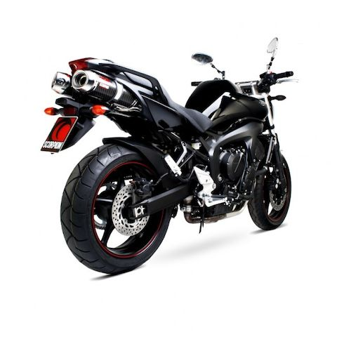scorpion factory oval slip on exhaust yamaha fz6 2007 2009. Black Bedroom Furniture Sets. Home Design Ideas