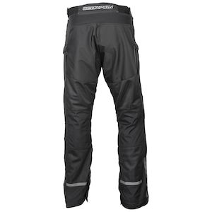 S//30 MENS WATERPROOF TROUSER VIPER MOTORCYCLE MOTORBIKE OVER TROUSERS RAIN PANTS ALL SEASON HIKING CYCLING CARRY CASE BLACK AND BALACLAVA