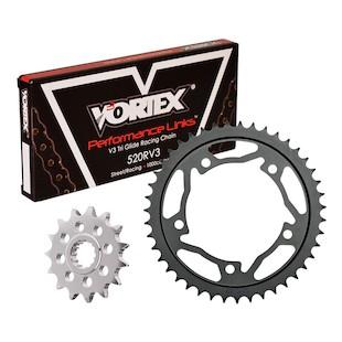 Vortex V3 Chain And Sprocket Kit Suzuki GSXR 1000 2007-2008 16/43 / RV3 Black Chain/Black Aluminum Sp... [Open Box]