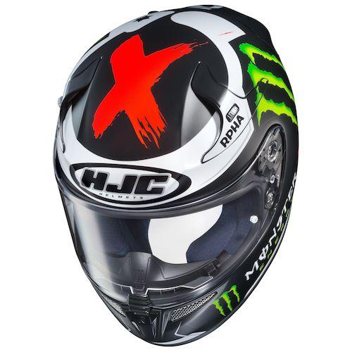 hjc rpha 10 pro lorenzo replica 3 helmet size lg only revzilla. Black Bedroom Furniture Sets. Home Design Ideas