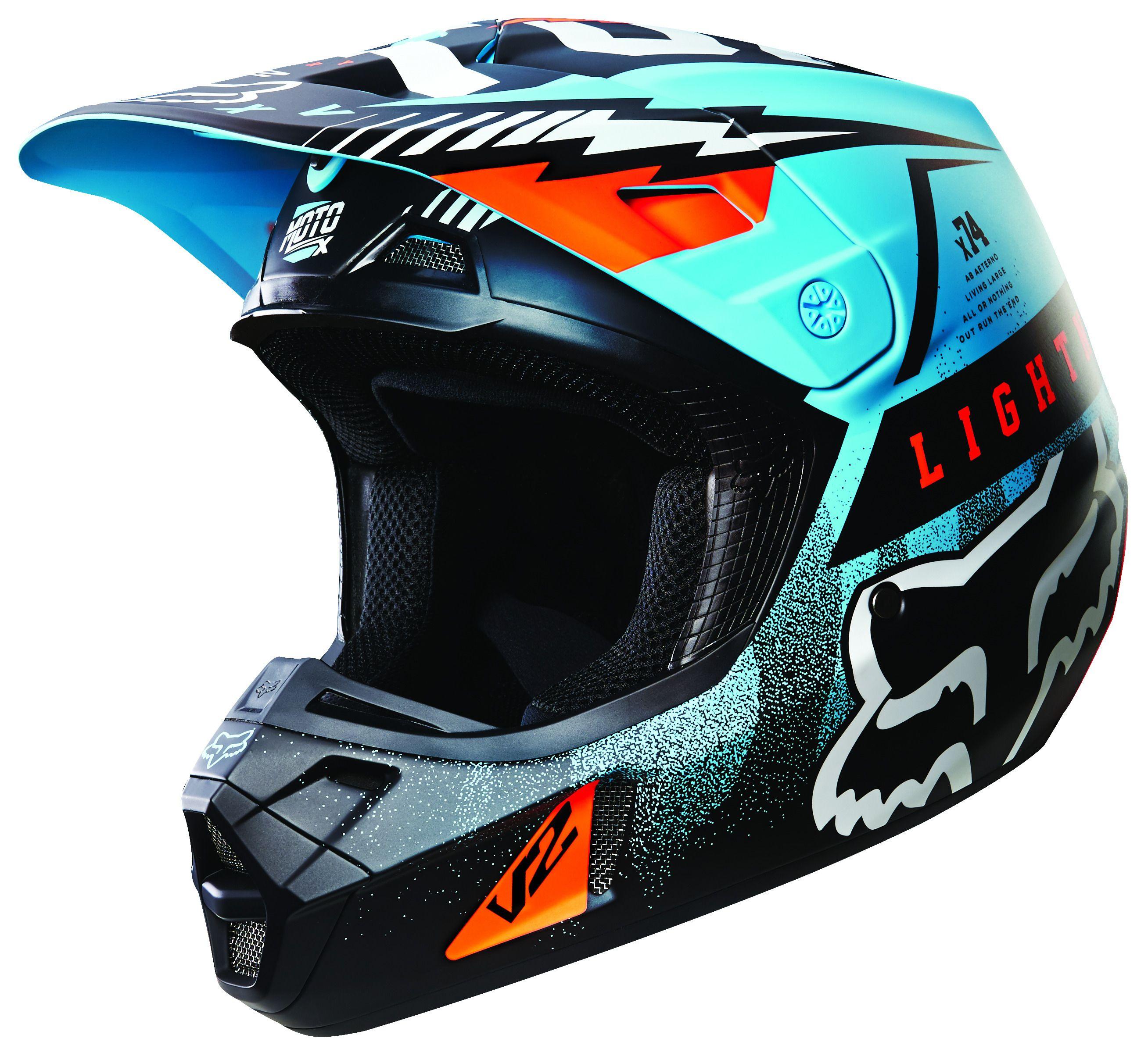 fox racing v2 vicious helmet 30 off revzilla. Black Bedroom Furniture Sets. Home Design Ideas