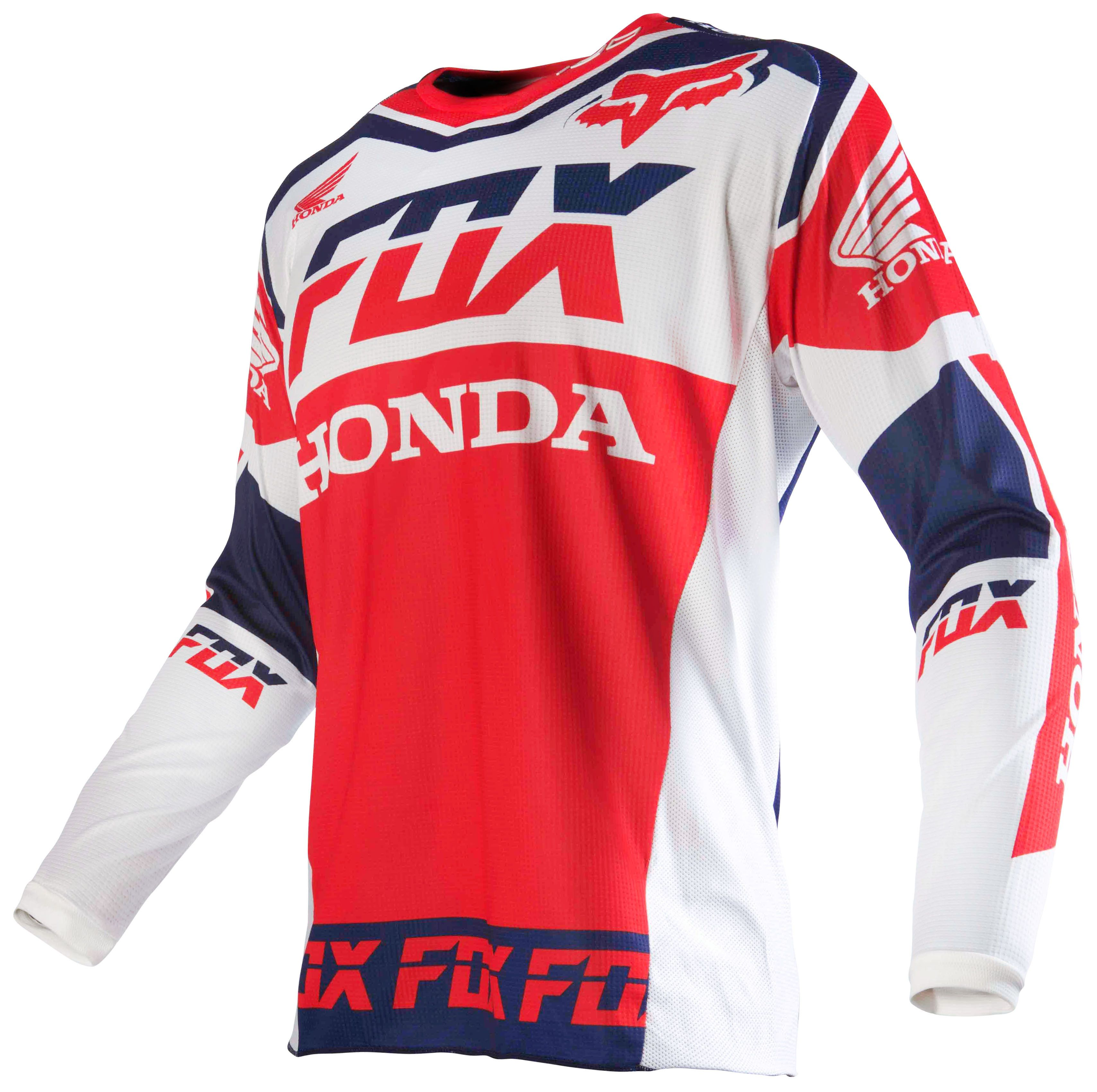 fox racing 180 honda jersey revzilla