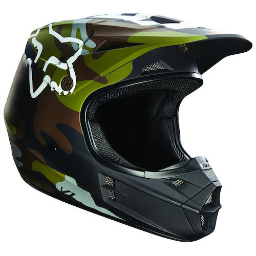 Fox Racing V1 Camo Helmet - RevZilla Fox Racing Camo