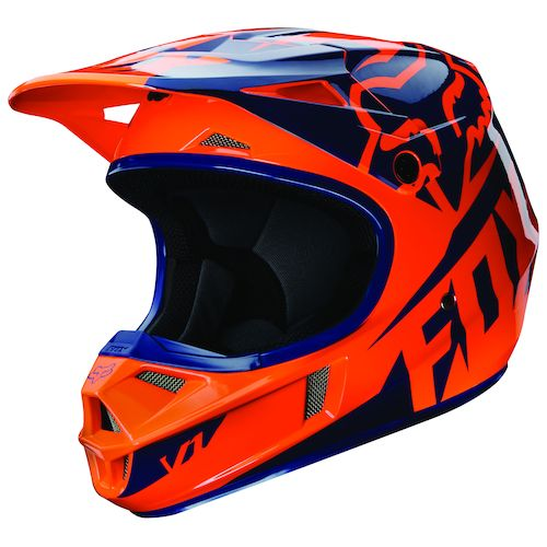 fox racing youth v1 race helmet revzilla. Black Bedroom Furniture Sets. Home Design Ideas