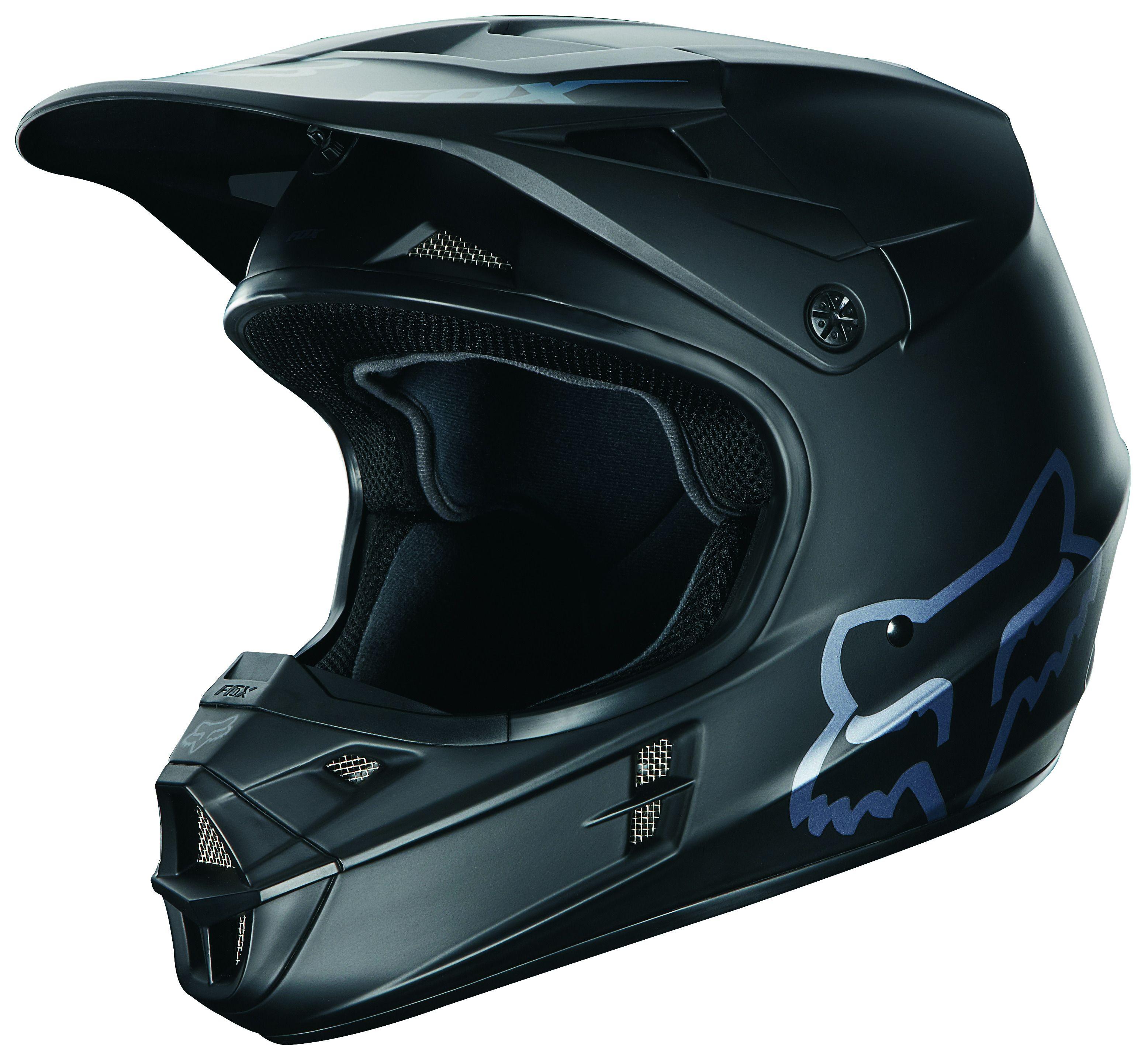 fox racing v1 matte black helmet revzilla. Black Bedroom Furniture Sets. Home Design Ideas