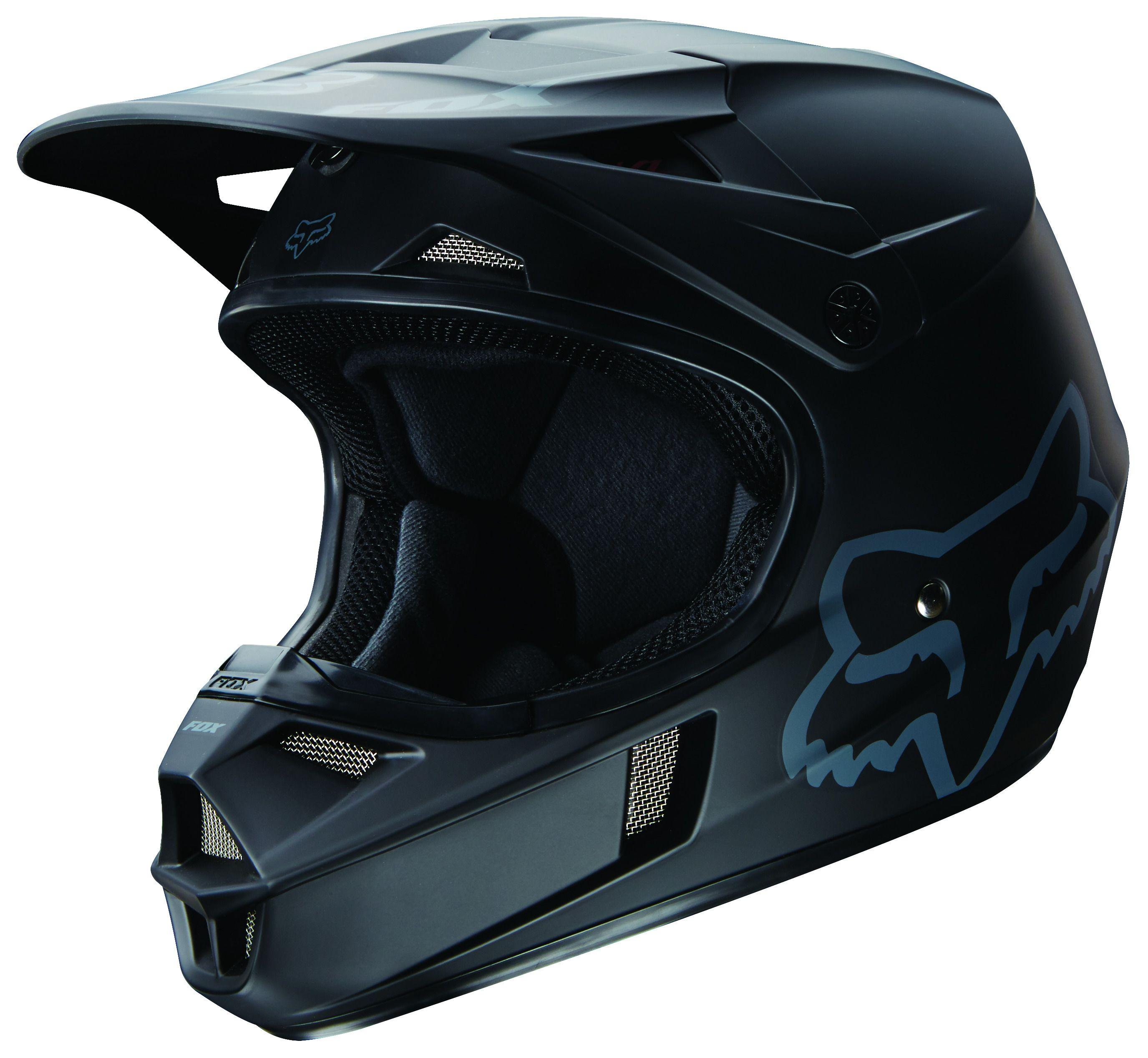 Fox Racing Youth V1 Matte Black Helmet Revzilla