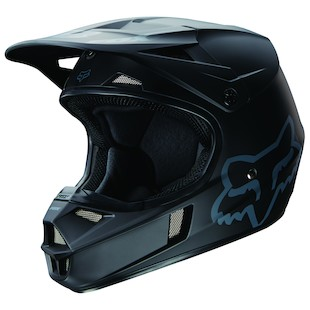Fox Racing Youth V1 Matte Black Helmet