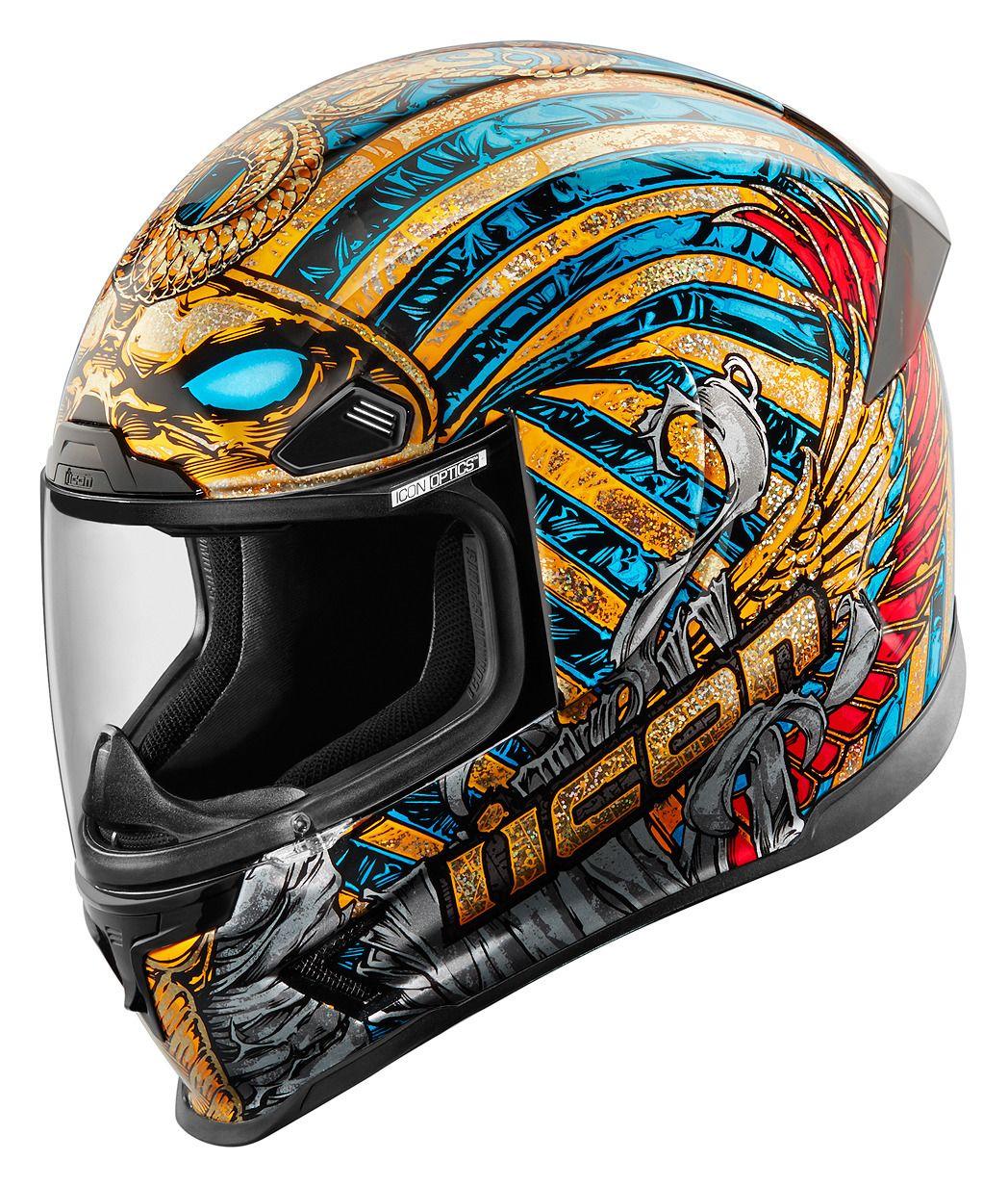 Icon Airframe Pro Pharaoh Helmet Revzilla