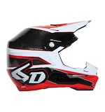 6D ATR-1 Team FCR Carbon Helmet Red/Carbon / MD [Open Box]