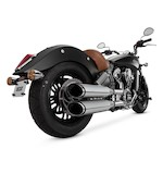 Vance & Hines Twin Slash Round Slip-On Mufflers For Indian Scout 2015-2018