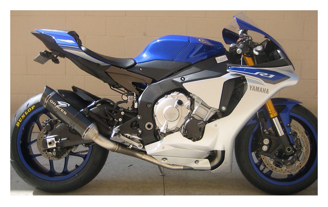 Graves Cat Eliminator Slip On Exhaust Yamaha R1 R1m 2015 2019