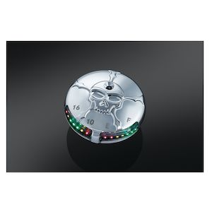 Kuryakyn Zombie LED Fuel And Battery Gauge For Harley 1988-2018