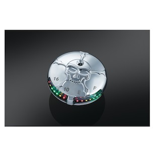 Kuryakyn Zombie LED Fuel And Battery Gauge For Harley 1988-2017