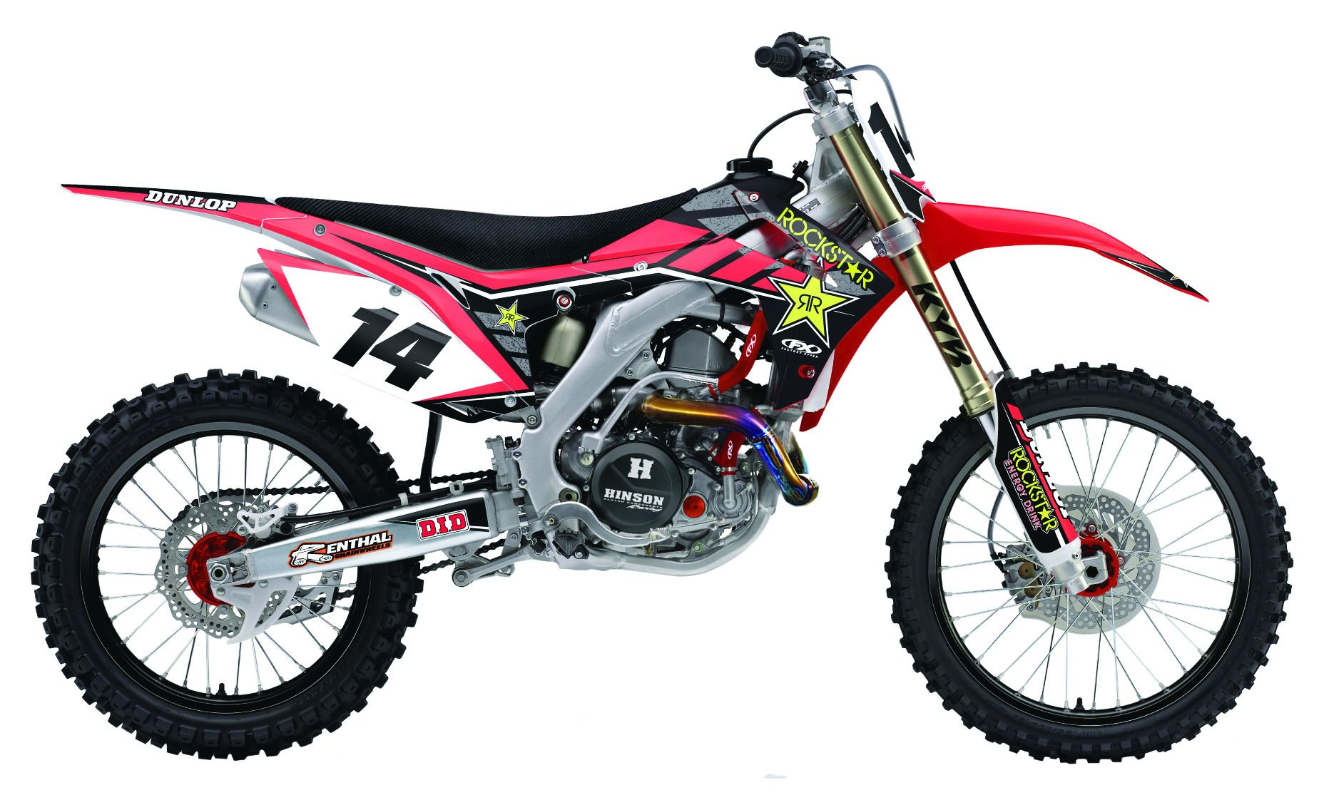 Factory Effex Complete Rockstar Graphics Kit Honda Crf250r
