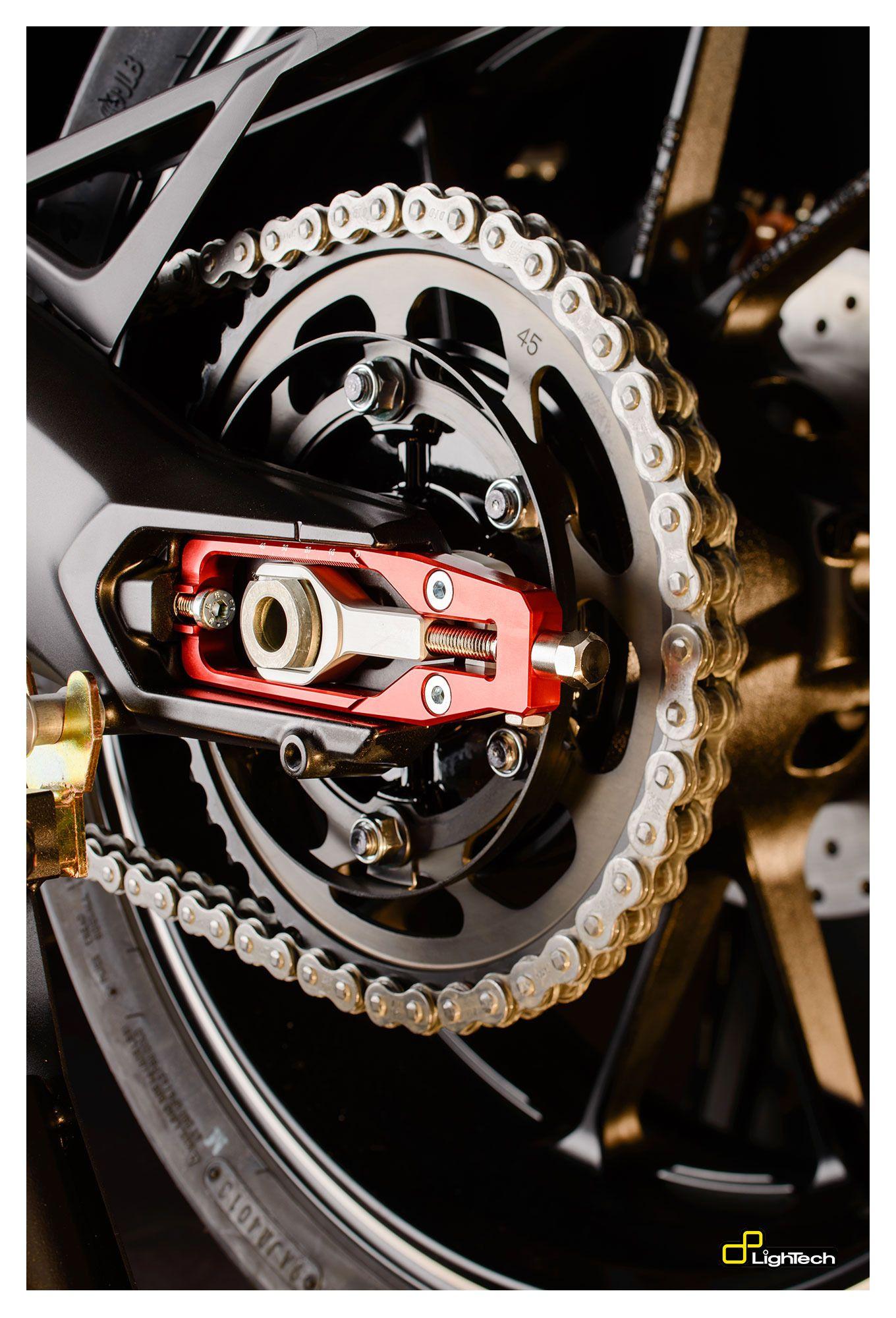 Honda CBR1000RR Rear wheel swing arm adjuster blocks 2008 to 2011