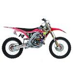 Factory Effex Rockstar Shroud / Airbox Graphics Kit Honda CRF250R / CRF450R 2009-2013