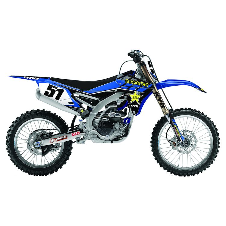 Factory Effex Rockstar Shroud / Airbox Graphics Kit Yamaha YZ250F 2010-2013