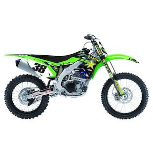 Factory Effex Rockstar Shroud / Airbox Graphics Kit Kawasaki KX250F 2009-2012