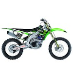 Factory Effex Monster Energy Shroud / Airbox Graphics Kit Kawasaki KX85 / KX100 2014-2015