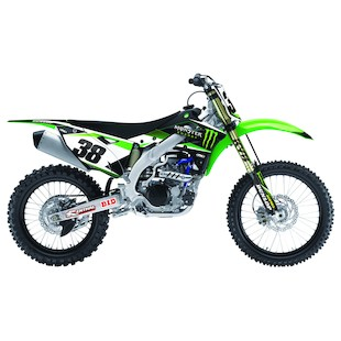 Factory Effex Monster Energy Shroud / Airbox Graphics Kit Kawasaki KX450F 2012-2015