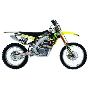 Factory Effex Monster Energy Shroud / Airbox Graphics Kit Suzuki RMZ 250 2007-2009