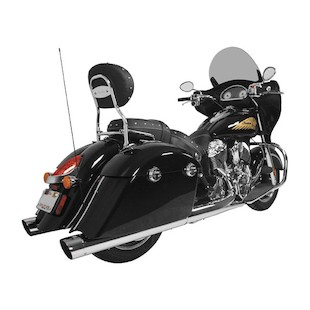 """Rush Exhaust 4"""" Performance Slip On For Indian 2014-2016"""