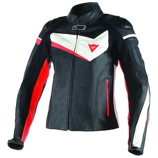 Dainese Women's Veloster Leather Motorcycle Jacket