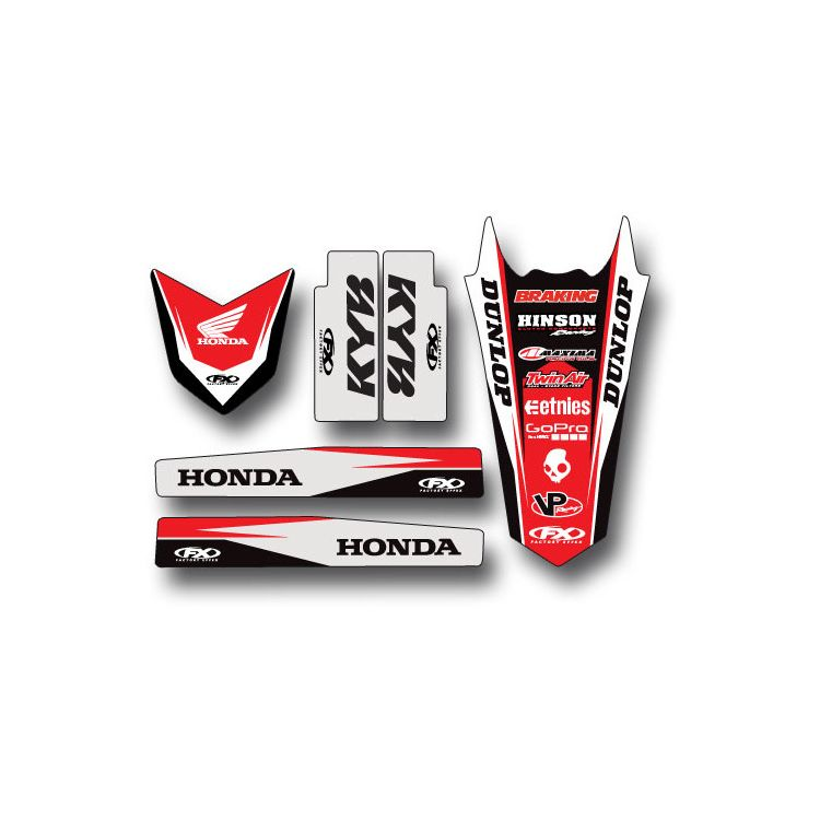 Factory Effex Trim Graphics Kit Honda CR125R / CR250R / CRF450R 2000-2003