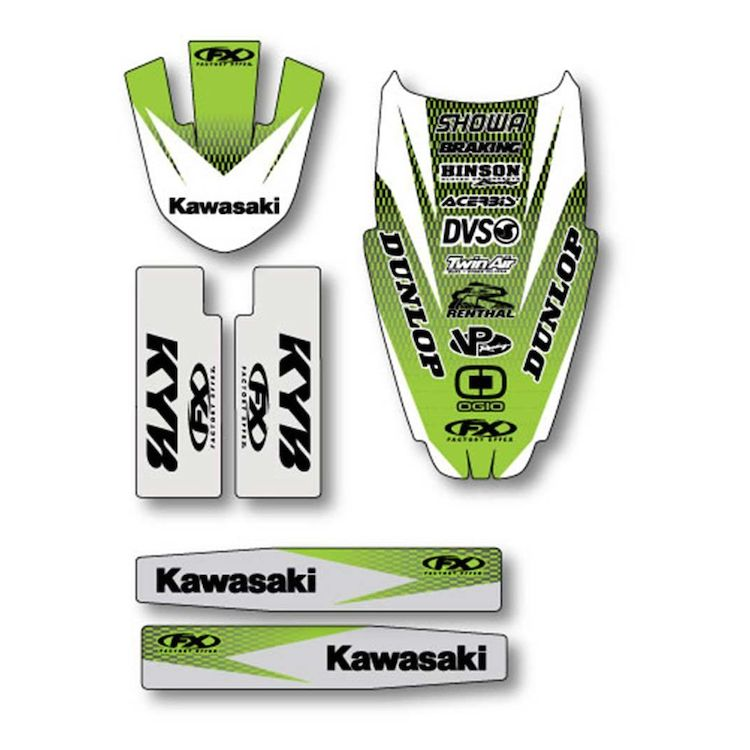 Factory Effex Trim Graphics Kit Kawasaki KX250F / KX450F 2016-2018