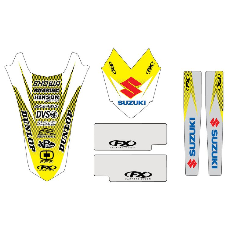 Factory Effex Trim Graphics Kit Suzuki RM125 / RM250 2001-2008