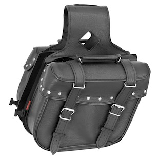 River Road Quantum Slant Studded Saddlebags