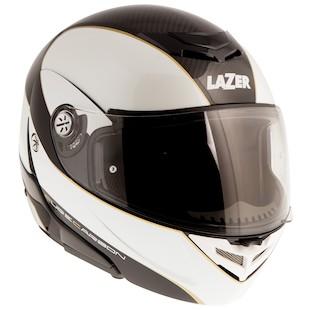 LaZer Monaco Window Pure Carbon Helmet Carbon/Metallic White/Gold / XS [Demo - Good]
