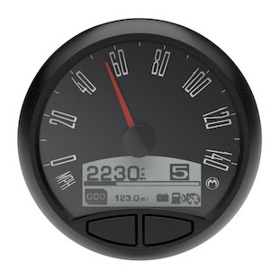 "Medallion Just Black 5"" Console Speedo Gauge For Harley 2004-2013"