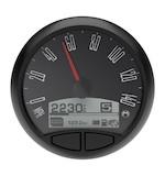 "Medallion Just Black 5"" Console Speedo Gauge For Harley 1999-2003"