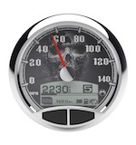 "Medallion Skull 5"" Console Speedo Gauge For Harley 1999-2003"