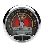 "Medallion USMC 5"" Console Speedo Gauge For Harley 1999-2003"