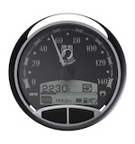 "Medallion POW 5"" Console Speedo Gauge For Harley"