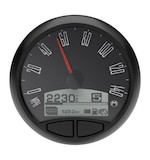 "Medallion Just Black 5"" Console Speedo Gauge For Harley"