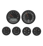 Medallion Just Black Bagger Gauge Kit For Harley Touring 2004-2013