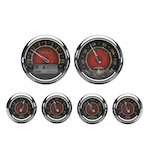 Medallion USMC Bagger Gauge Kit For Harley Touring 2000-2003