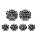 Medallion Skull Bagger Gauge Kit For Harley Touring 2000-2003