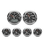 Medallion Skull Bagger Gauge Kit For Harley Touring