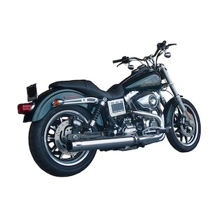"""Firebrand Exhaust 4"""" Loose Cannon Slip-On Muffler For Harley Dyna 2012-2017"""