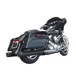 """Firebrand Exhaust 4"""" Grand Prix Slip-On Muffler For Harley Touring 2009-2016"""