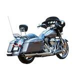"Firebrand Exhaust 2 1/2"" Double Down Slip-On Muffler For Harley Touring 2009-2016"