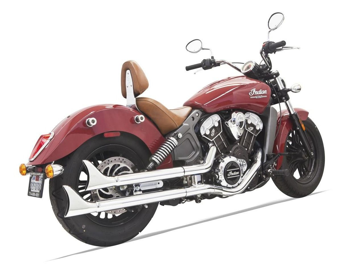 Bassani Fishtail Slip On Mufflers For Indian Scout 2015 2016
