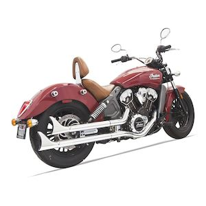 Bassani Fishtail Slip On Mufflers For Indian Scout 2015-2019