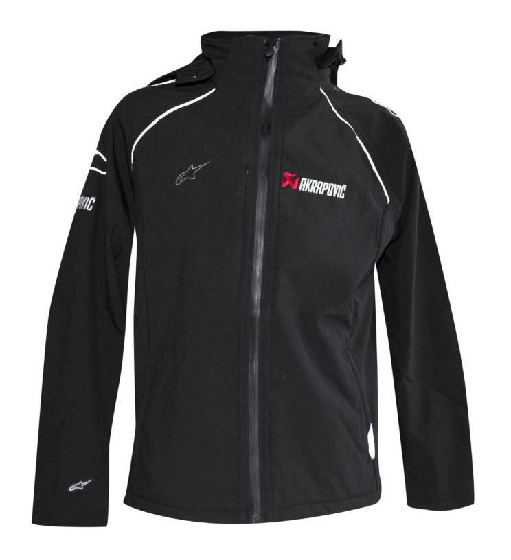 akrapovic alpinestars soft shell jacket revzilla. Black Bedroom Furniture Sets. Home Design Ideas