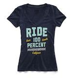 100% Tracker V-Neck Women's T-Shirt